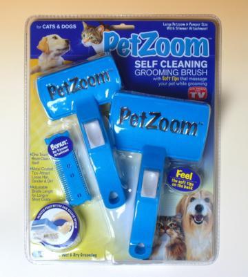 Perie dubla profesionala pentru animale Pet Zoom de la Www.oferteshop.ro - Cadouri Online