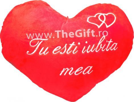Perna cu mesaj romantic Tu esti iubita mea de la Thegift.ro - Cadouri Online