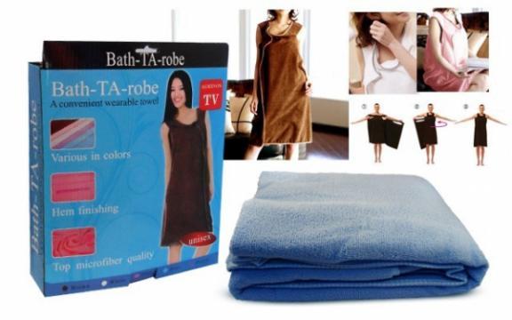 Prosop pentru baie - halat Bath-TA-robe de la Www.oferteshop.ro - Cadouri Online