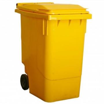 Pubela gunoi 240L, Strend Pro MGB 240 litri, culoare galben