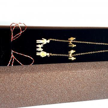 Set bijuterii Familia mea auriu SC08 de la Eos Srl (www.martisoare-shop.ro)