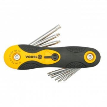 Set 8 chei torx Vorel 56507, T9-T40, Cr-V de la Viva Metal Decor Srl