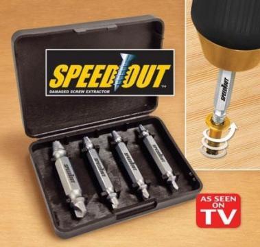 Set de 4 burghie extractoare pentru suruburi Speed Out