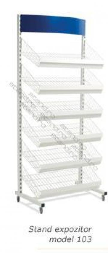 Stand expozitor cutii, cafea, reviste 0103 de la Rolix Impex Series Srl