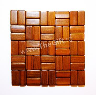 Suport pad din bambus pentru vase calde de la Thegift.ro - Cadouri Online