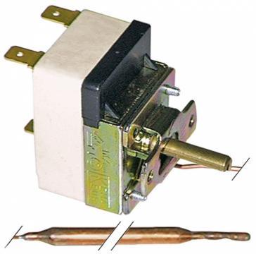 Termostat reglabil 30-110*C, 1CO, 16A, bulb 6mm x 75mm