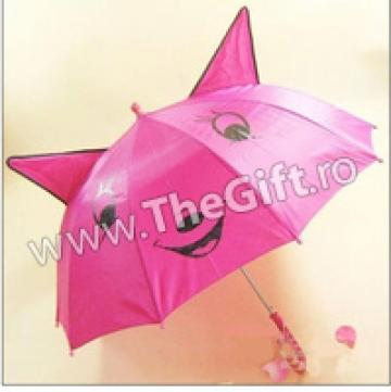 Umbrela haioasa, cu urechi si fata zambitoare