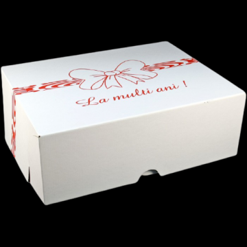 Cutii albe tort CT8 (51x61x16cm) de la Cristian Food Industry Srl.