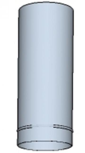 Tub rotund din otel inoxidabil 550 200mm de la Ventdepot Srl