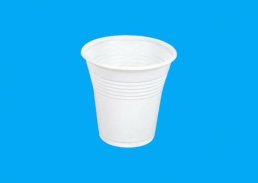 Pahar plastic alb 160cc 1,6g 100 buc/set de la Cristian Food Industry Srl.