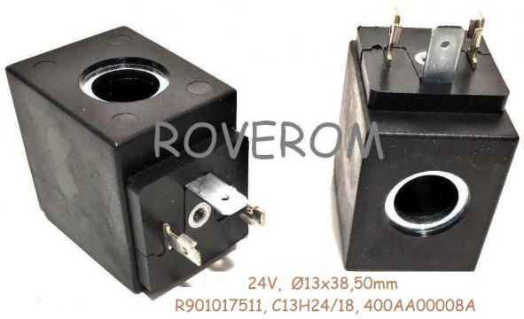 Bobina 24V, d13x38,50mm, electrovalva hidraulica de la Roverom Srl