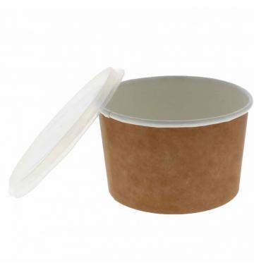Bol supa carton natur/alb 16oz (473cc) 100 buc/set de la Cristian Food Industry Srl.
