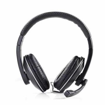 Casti cu fir multimedia, microfon, conectori 2 x 3.5mm negru