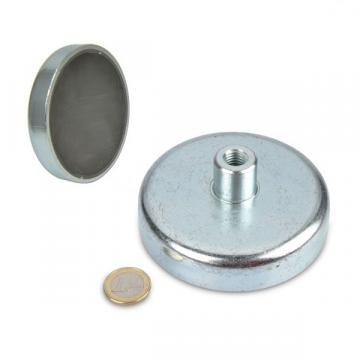 Magnet neodim oala 100 mm, cu gat filetat M12 de la Arca Hobber Srl