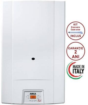 Centrala termica Arca Pixelfast 32F, kit evacuare inclus de la Axa Industries Srl