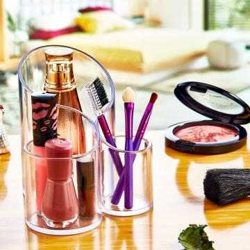 Organizator plastic makeup, cosmetice Trio de la Plasma Trade Srl (happymax.ro)