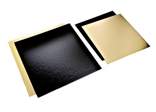 Planseta dreapta auriu/negru 24x24cm de la Cristian Food Industry Srl.