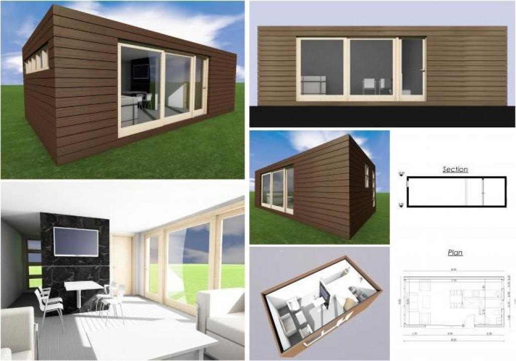 Case modulare minimale egea small modular house e for Case modulare