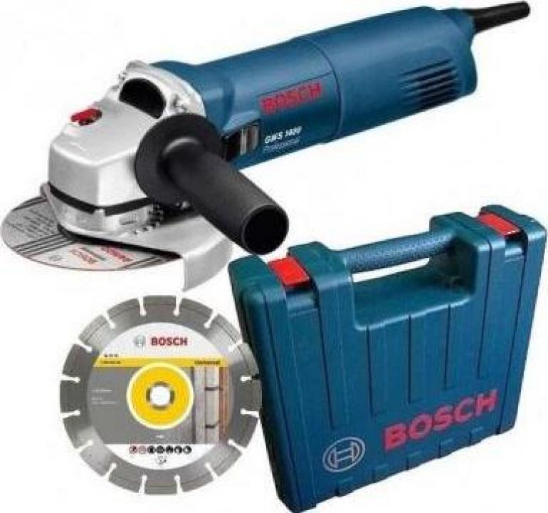 Polizor unghiular Bosch GWS 1400 cu disc