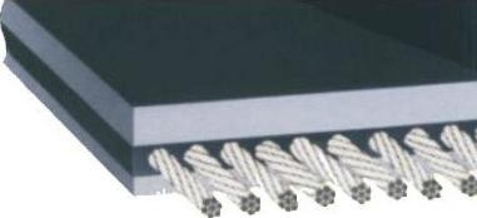 Benzi transportoare cauciuc cu insertii metalice