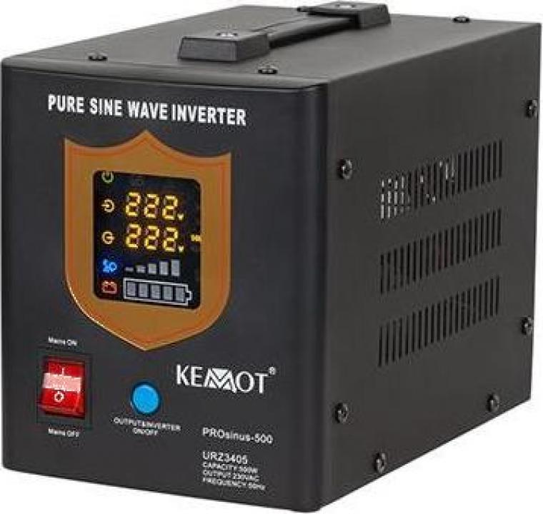 UPS centrale termice Sinus Pur 500w 12v Kemot negru