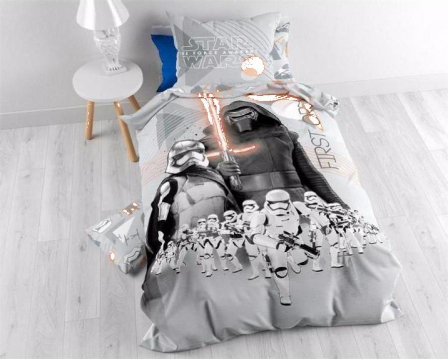 lenjerie pat bumbac baieti star wars epic 7 first grey. Black Bedroom Furniture Sets. Home Design Ideas