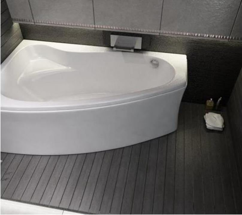 Cada baie colt asimetrica 140x100 cm