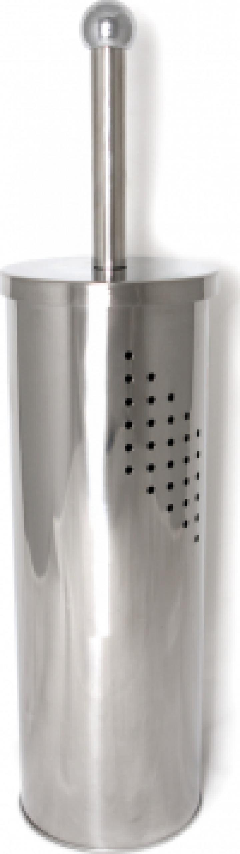 Perie WC cu suport cromat cu gauri