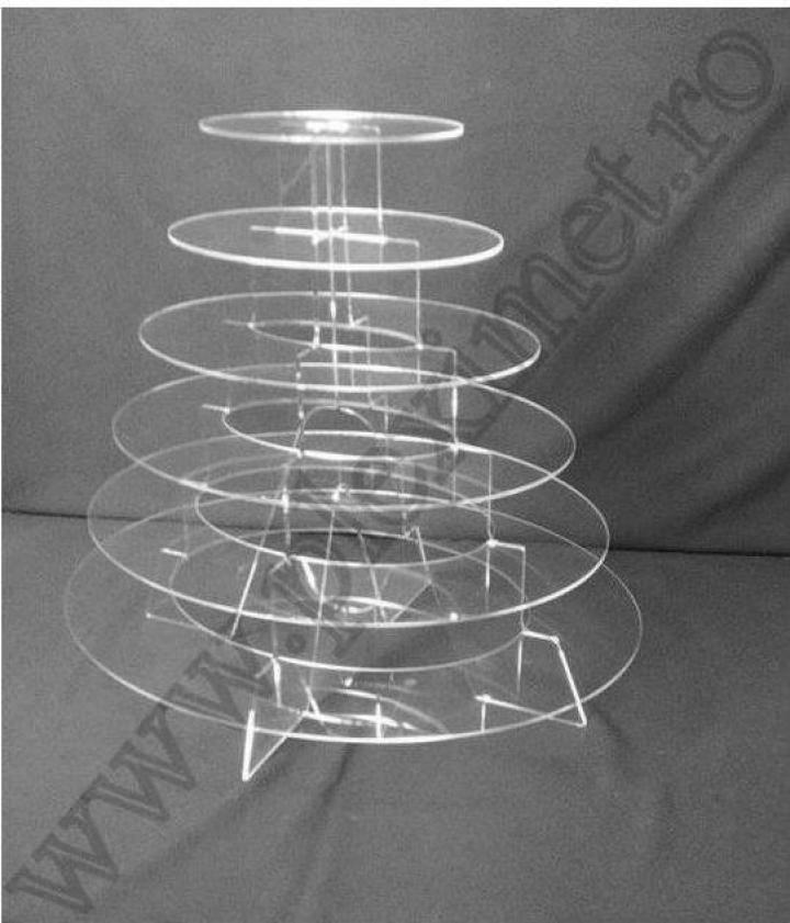 Suport eliptic cu 6 nivele pentru prajituri SPEv 23
