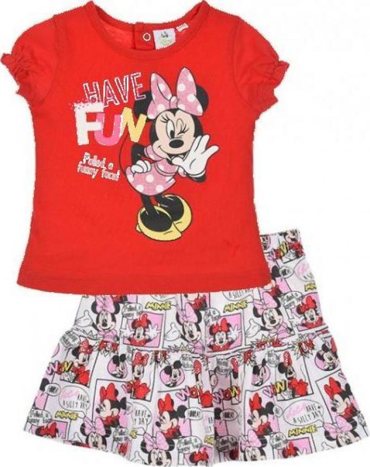 Set tricou si fusta pentru fetite