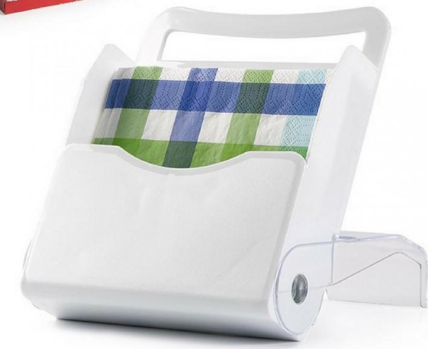 Suport vertical pentru servetele - alb