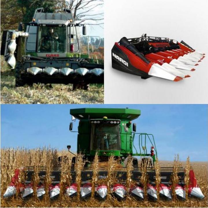 Echipament pentru recoltat porumb pe 12 randuri