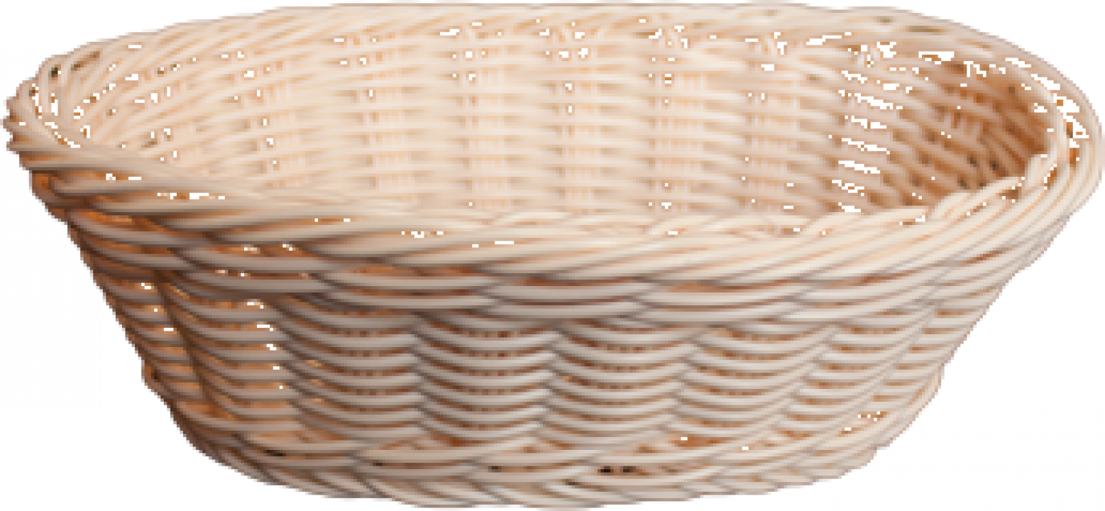 Cos oval servire paine, fructe Raki 23,5x15xH7cm, natural