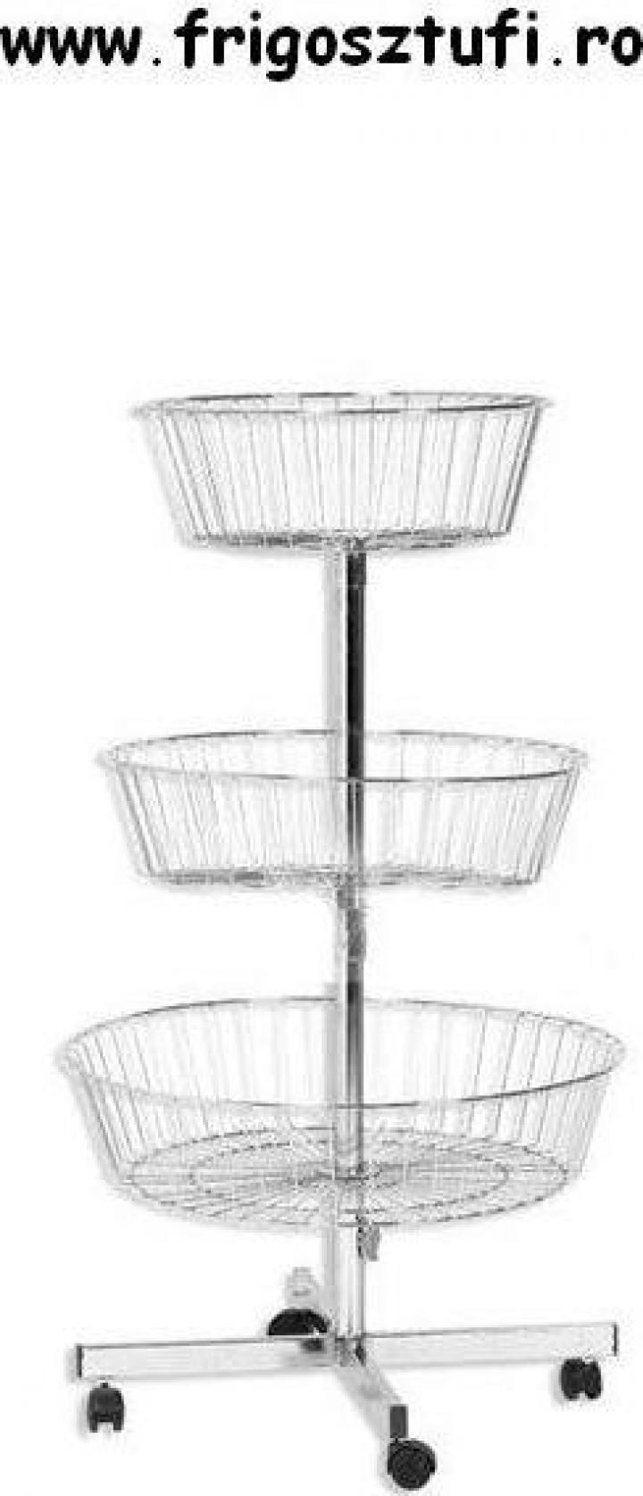 Cos rotativ cromat cu trei nivele