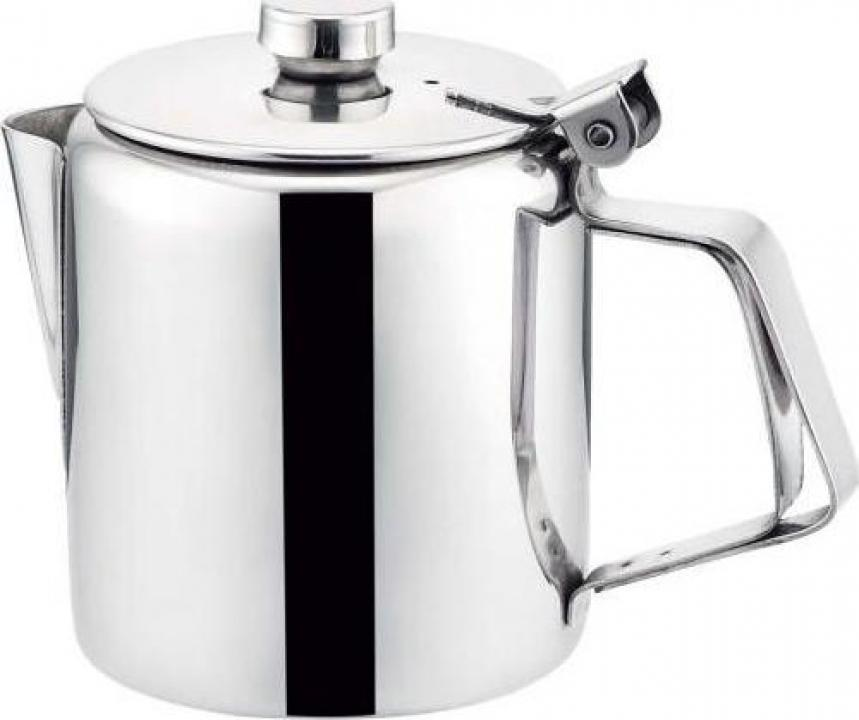 Cana,ceainic din inox cu capac 0.5 litri