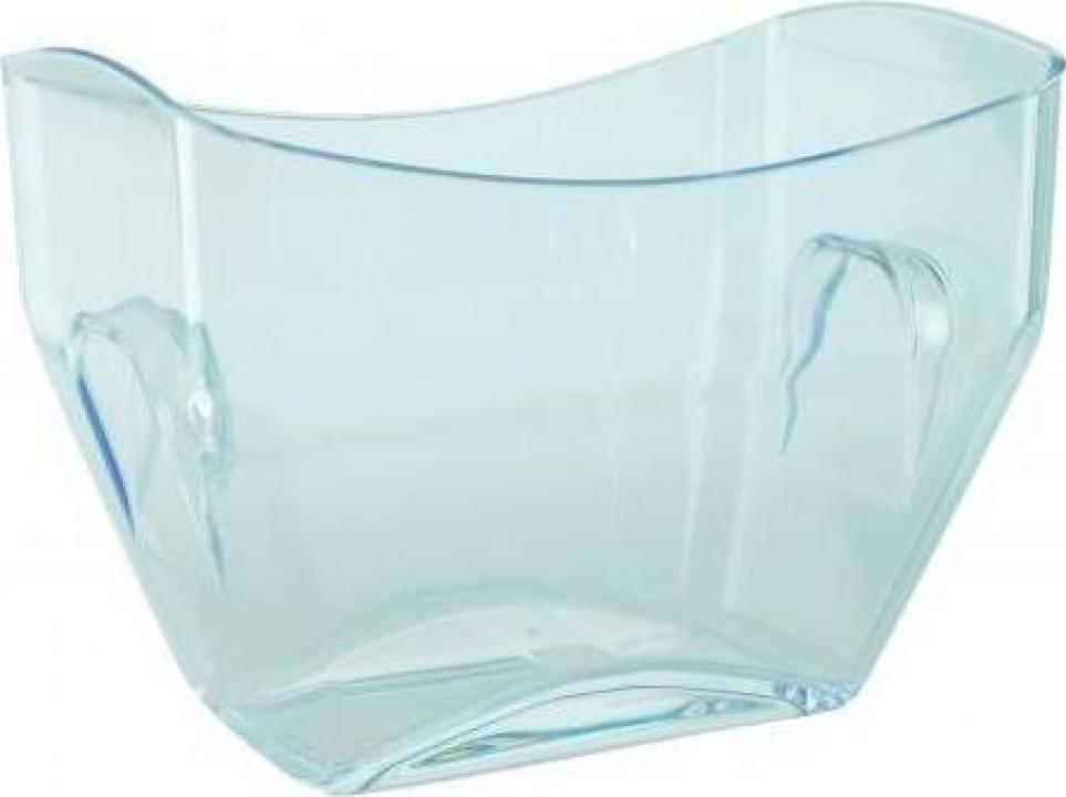 Frapiera acril transparenta dreptunghiulara 8 litri