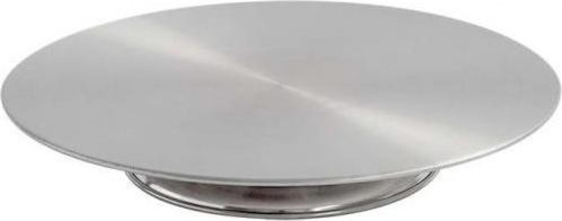 Suport inox rotativ pentru tort 33 cm
