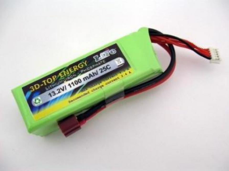 Acumulator LiFe 3D-Top Energy 13.2 V/ 1100 mA/ 25C