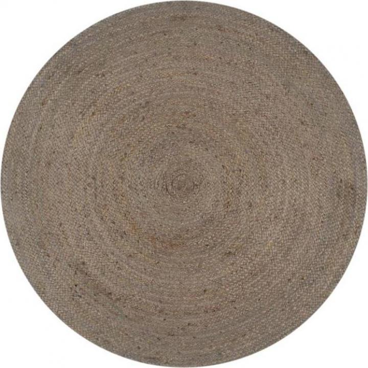 Covor manual, gri, 150 cm, iuta, rotund