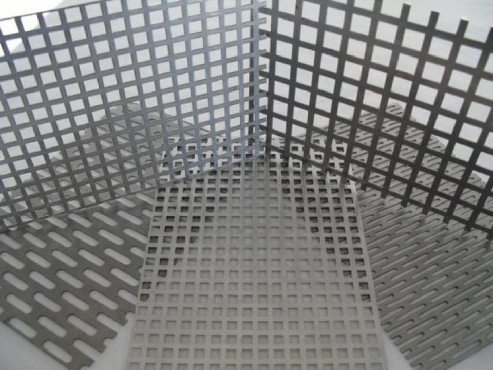 Tabla perforata cupru cu perforatii