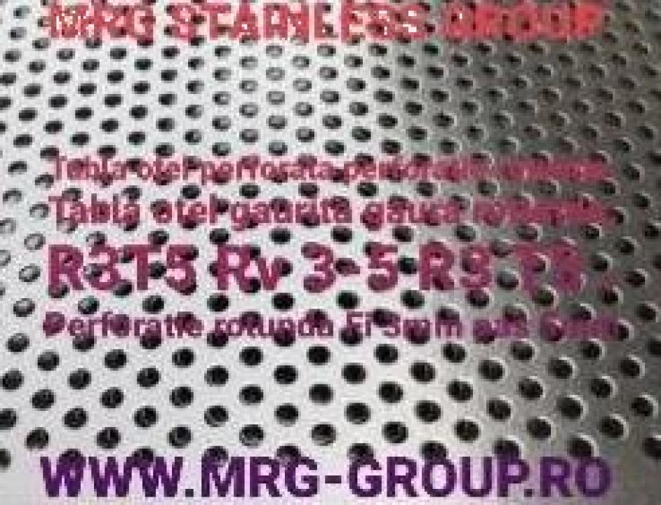 Tabla otel perforata 1x1000x2000mm R3T5 gaurita sita