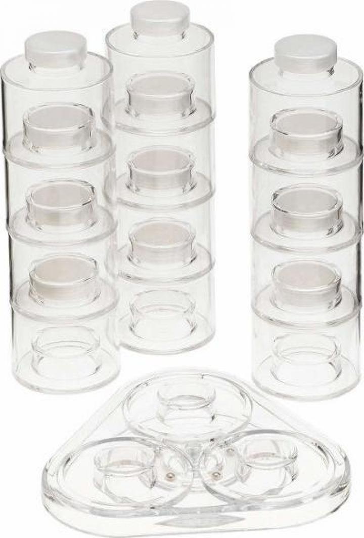 Set 12 piese recipiente pentru condimente Spice Tower Carous