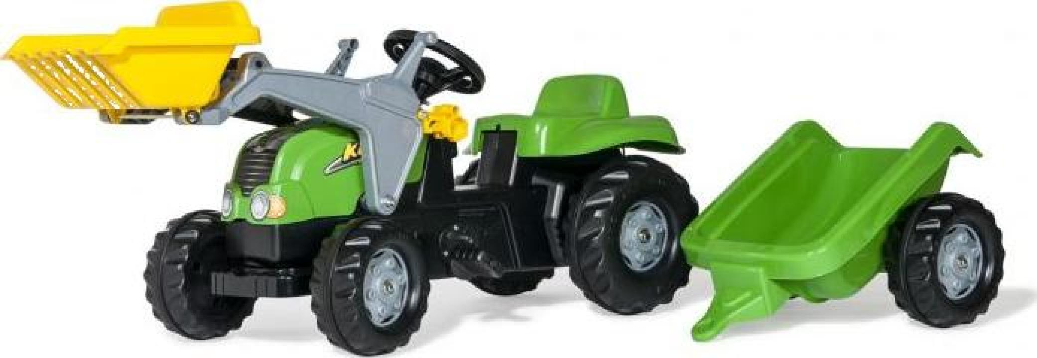 Jucarie tractor cu pedale, remorca si cupa Rolly Toys-X