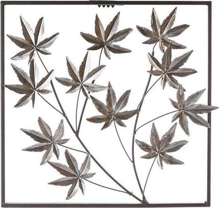 Decoratiune pentru perete Maple, metalic, maro inchis