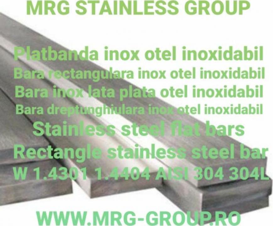 Bara lata inox 60x4x6000mm platbanda AISI 316L 304 W1.4404