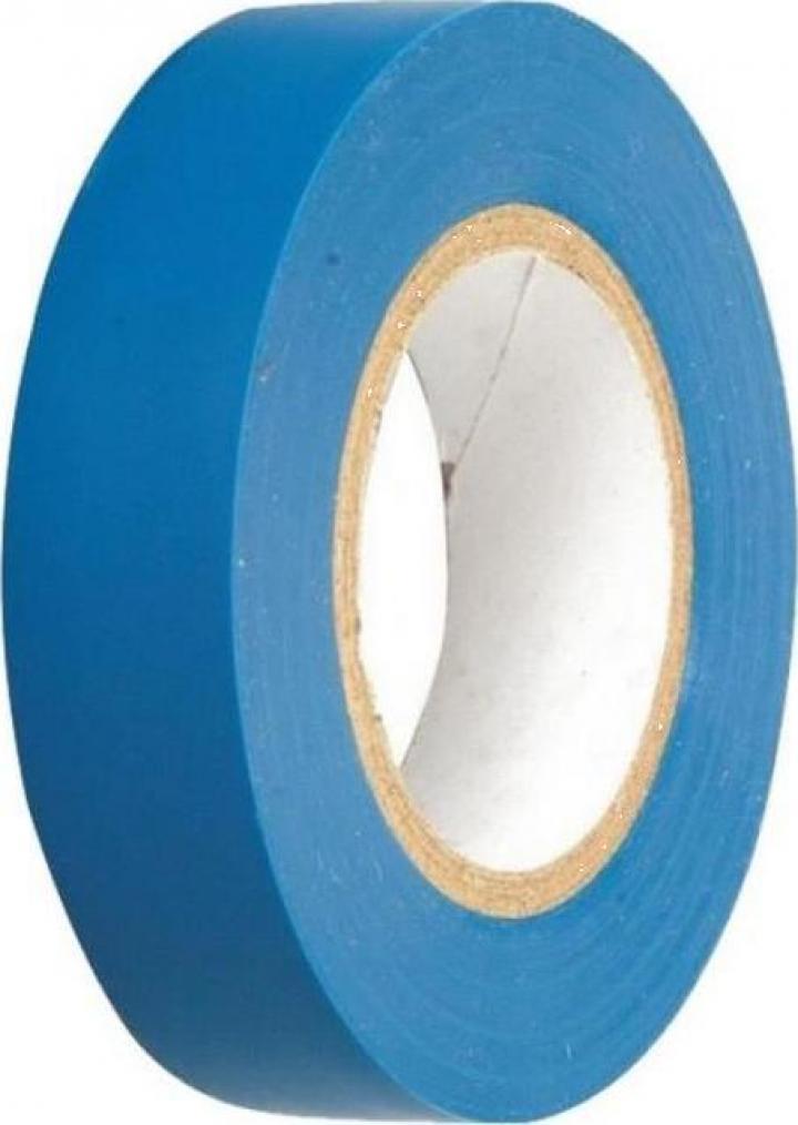Banda izolatoare latime 18mm, lungime 20m, culoare albastru