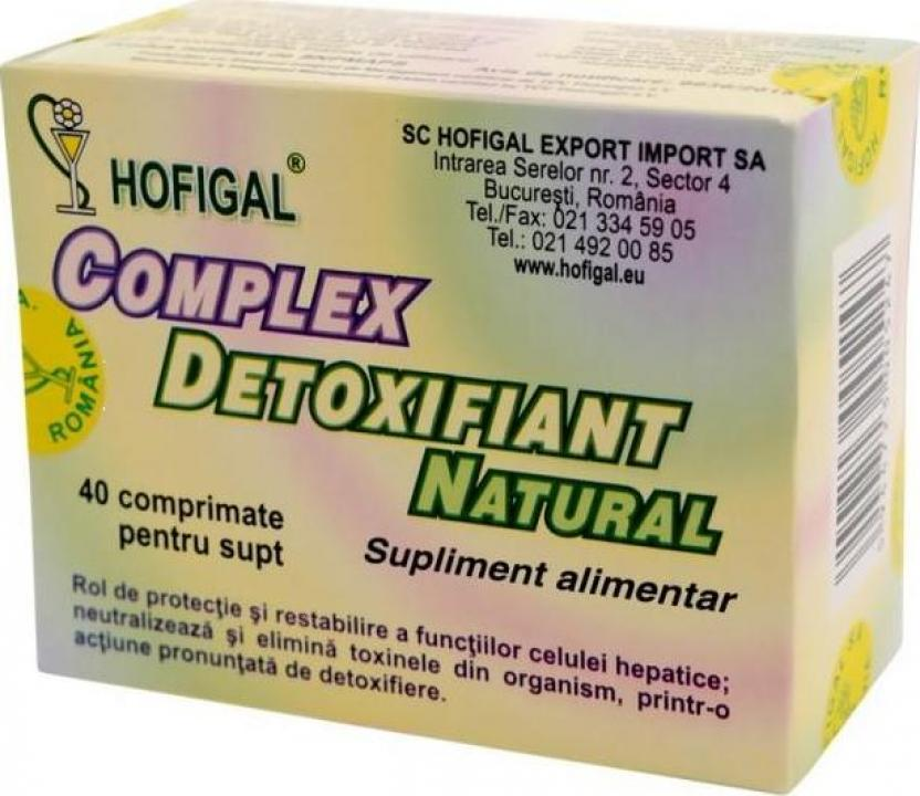 Supliment alimentar detoxifiant natural 40 cpr Hofigal