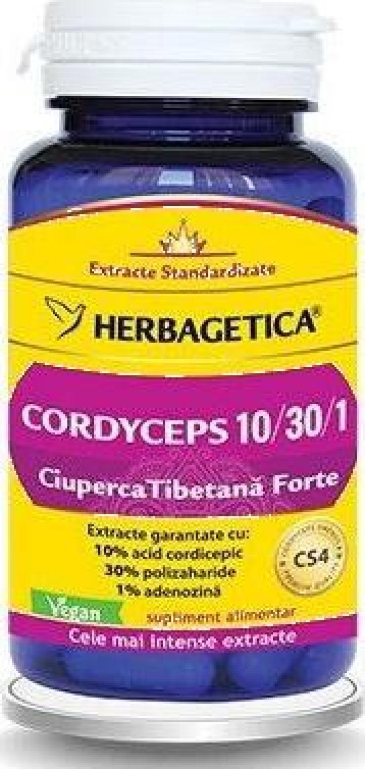 Supliment alimentar Cordyceps 10/30/1, 60 cps