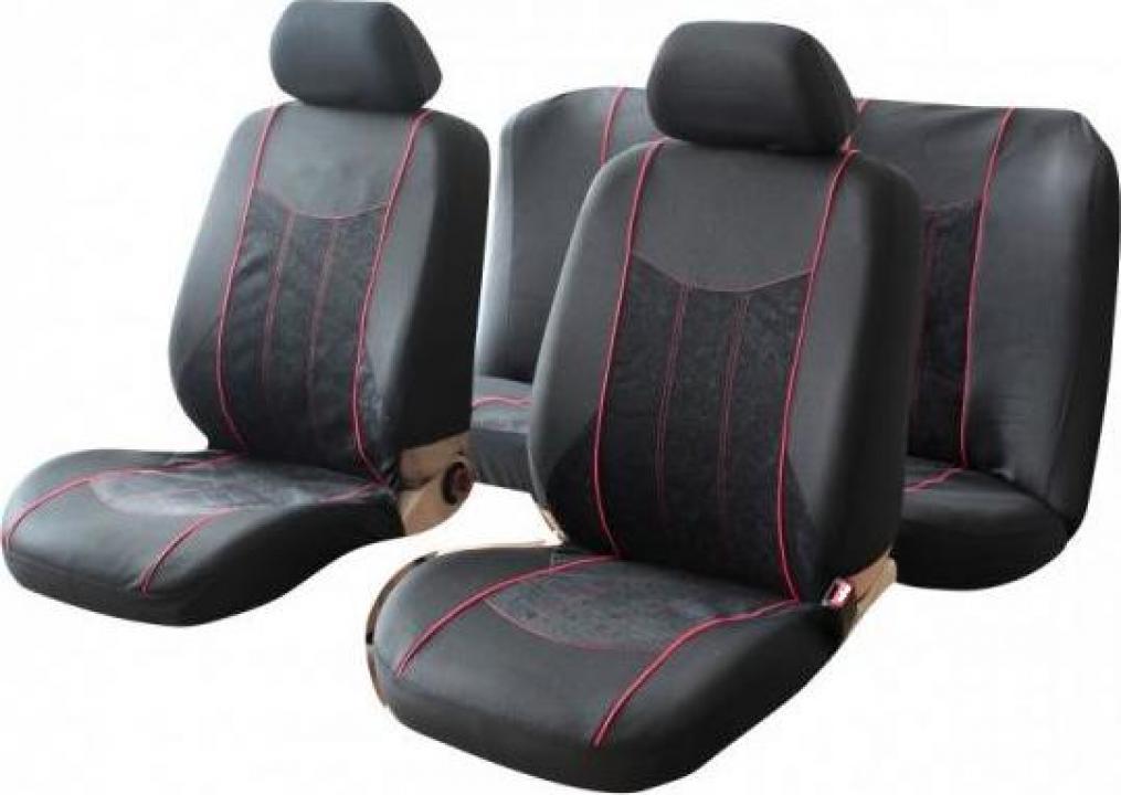 Set huse scaun auto Premium Cappa Black