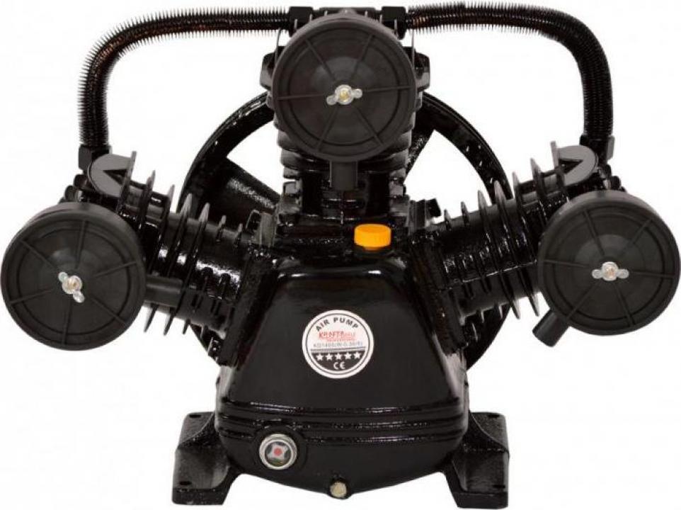 Cap compresor de aer cu 3 pistoane 3kW, 2CP KraftDele KD1405